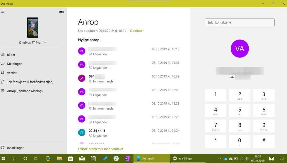 RING FRA PC-EN: Din mobil får anropsfunksjon i en kommende oppdatering til Windows 10.