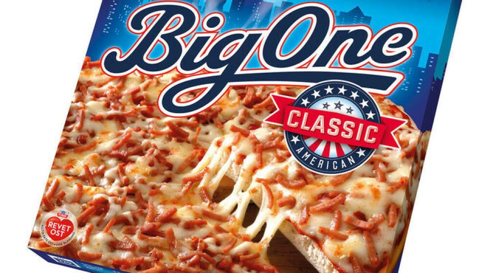 TILBAKEKALLES: Enkelte partier av pizzatypen Big One Classic tilbakekalles etter feil i produksjonen. Foto: Stabburet