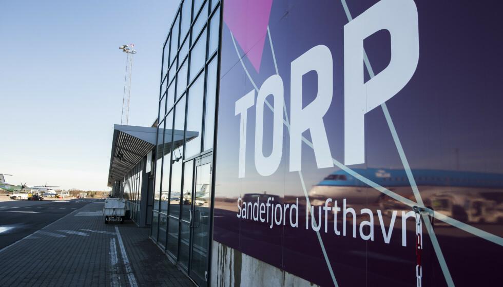 SNART SLUTT: Fra 1. april 2020 har Norwegian ikke lenger noen avganger fra Torp. Foto: Berit Roald/NTB Scanpix
