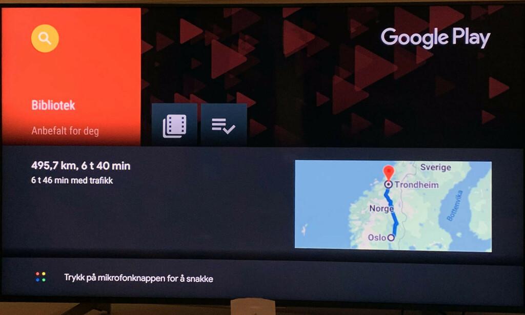SPØR OG FÅ SVAR: Google Assistant er den smarteste av de tre. Den finner du i TV-en fra Sony. Foto: Bjørn Eirik Loftås