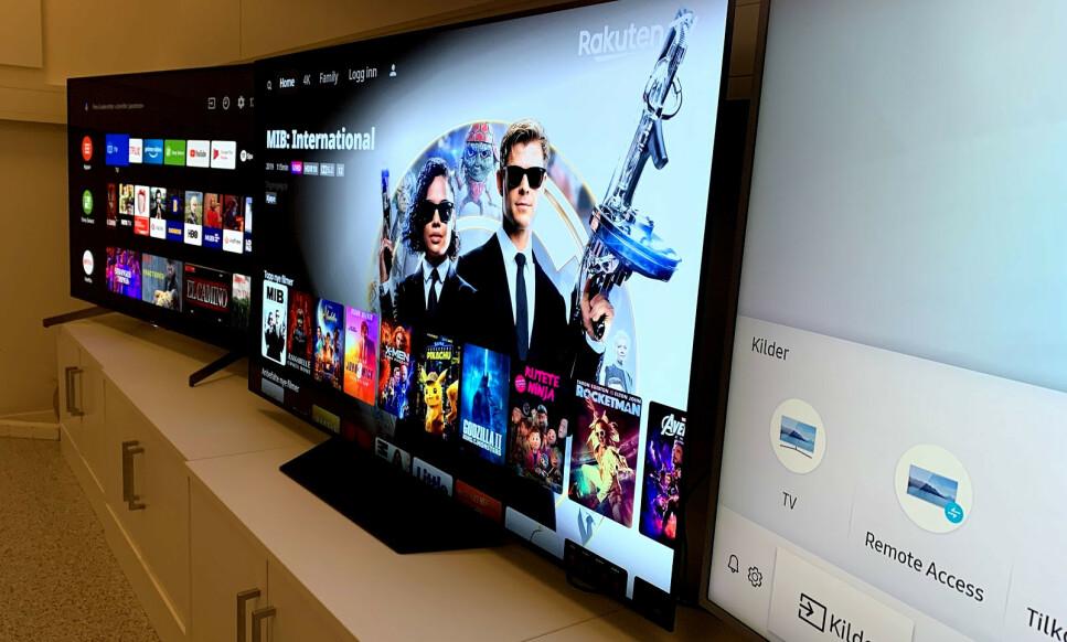 LCD, OLED, QLED: Tre TV-er i samme prisklasse med hver sin skjermteknologi. I denne testen har vi sammenlignet og vurdert en rekke egenskaper. Foto: Bjørn Eirik Loftås