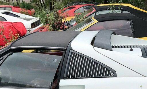 image: Dyre Ferrarier står og råtner