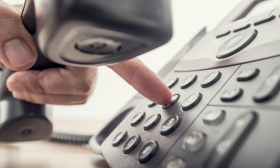 FASTTELEFON: Nkom foreslår at fasttelefonnumre skal være geografisk uavhengig. Foto: Shutterstock