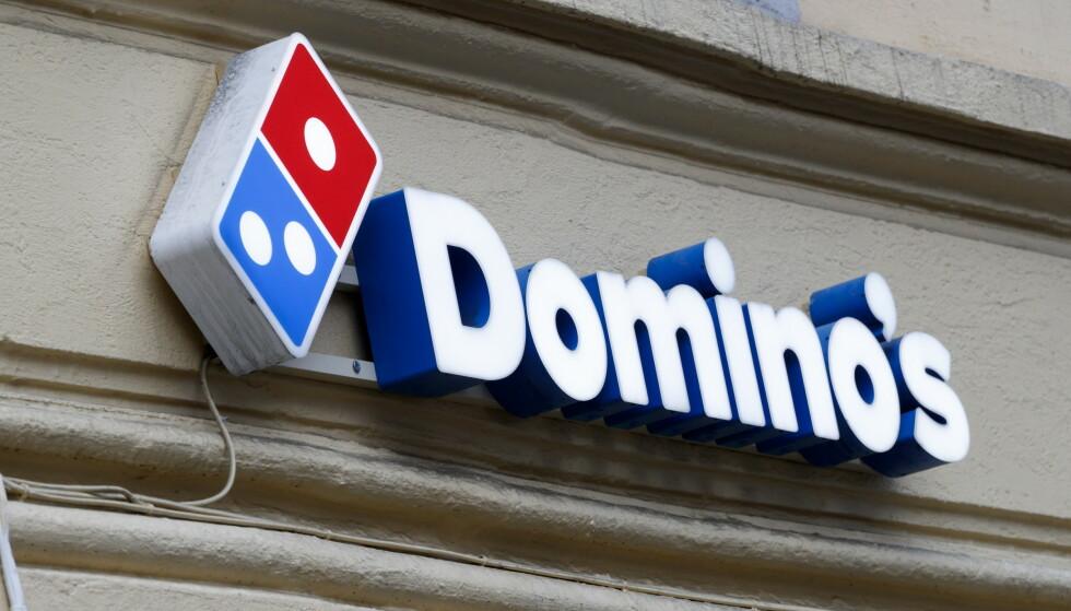 SLUTT: Det sammenlignbare salget for Domino's-restaurantene, ekskludert Dolly Dimple's, endte med et fall i salgsinntektene på 16,5 prosent. Pizzakjeden Dominos Pizza vil forlate Norge etter skuffende resultater. Foto: Cornelius Poppe/NTB scanpix.