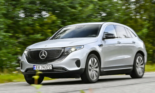 <strong>MERCEDES-BENZ EQC:</strong> Pris fra 604.000 kroner. Foto: Jamieson Pothecary