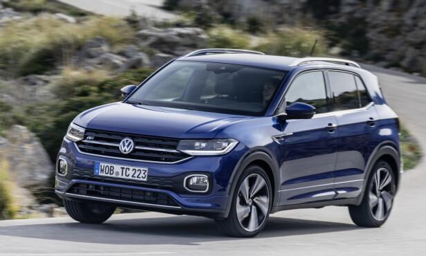 <strong>VW T-CROSS:</strong> Pris fra 278.800 kroner. Foto: Volkswagen