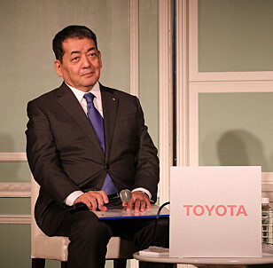 MANGE NYE ELBILER: - Vi planlegger en rekke nye elbiler på en helt ny plattform fra 2022, bekrefter Toyotas utviklingssjef Shigeki Terashi overfor Dinside. Foto: Rune Korsvoll.