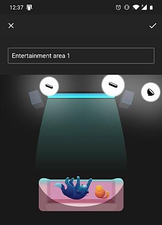 I Hue-appen setter du opp et underholdningsområde.
