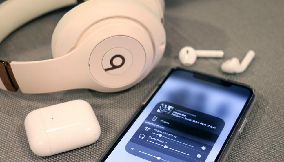 NY FUNKSJON: I IOS 13 har Apple endelig gjort det mulig å dele lyden trådløst med en venn. Foto: Kirsti Østvang