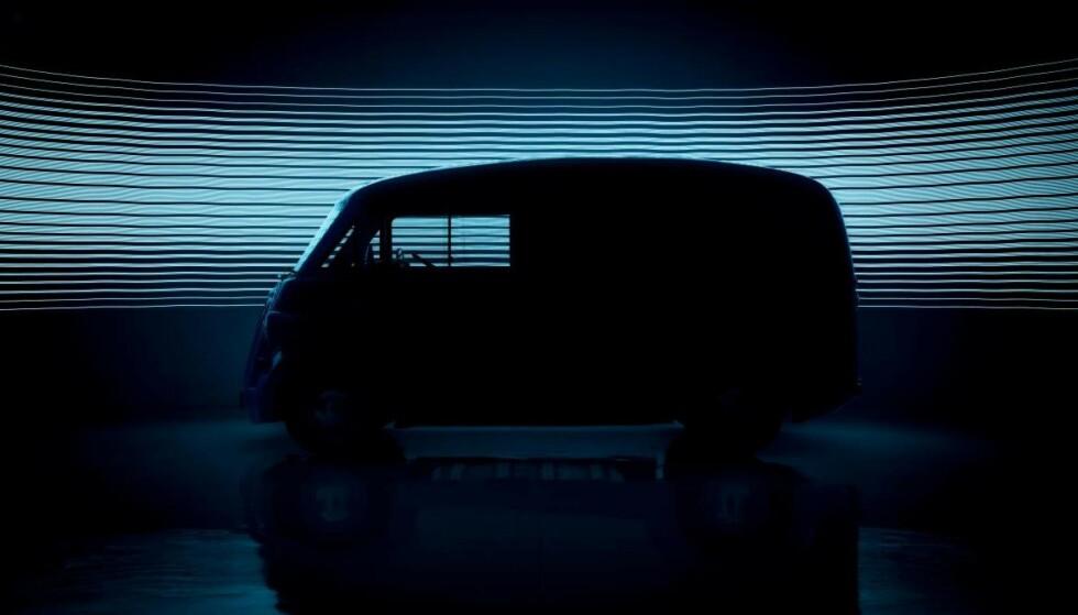 KASSEBIL: Morris JE skal snart være på plass. En elektrisk varebil som er bygd i karbonfiber. Foto: Morris Commercial