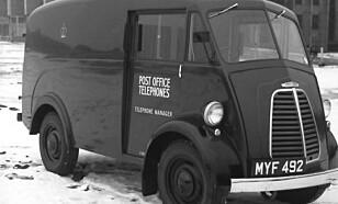 POST MORRIS: Den gamle J-type var en svært populær allbruksbil i Storbritannia i etterkrigstida.Foto: Morris
