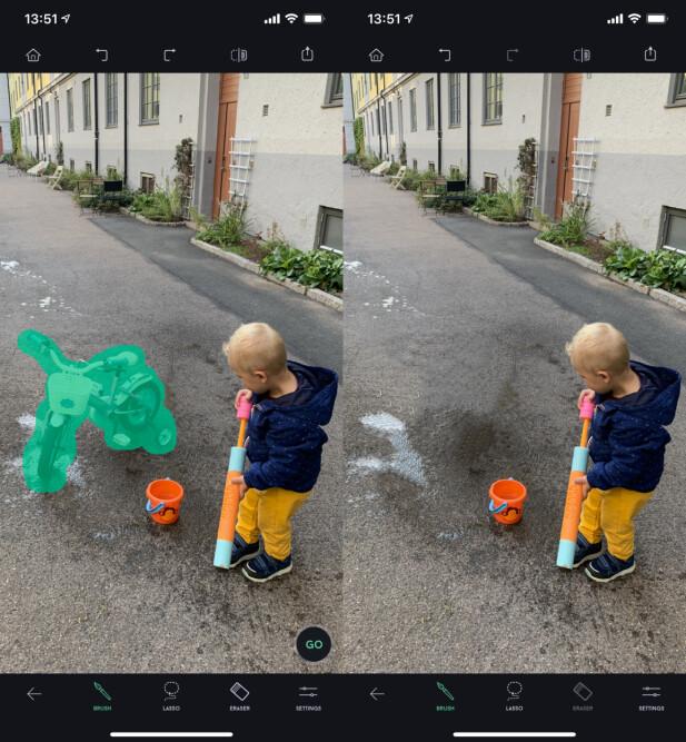 Fjerner uønskede elementer i bildene dine