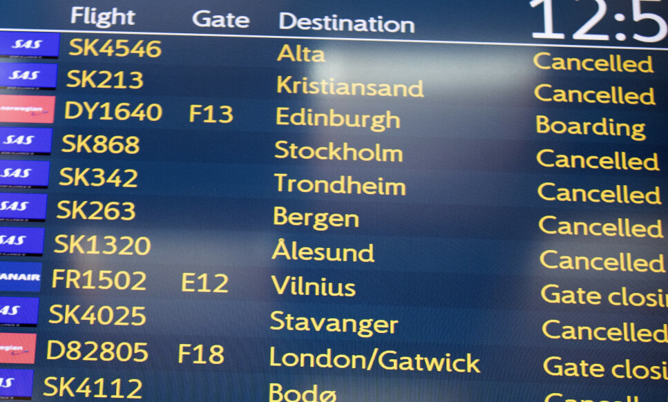 MISTET MELLOMLANDING: Ei kvinne skulle fly fra Haugesund til Israel via Oslo, men siden flyet til hovedstaden ble kansellert, rakk hun aldri flyet videre. Hun fikk heller ikke refundert billetten hos flyselskapet, så da måtte hun kjøpe ny billett til Israel. Les hvorfor i saken. Foto: Terje Pedersen/NTB Scanpix.