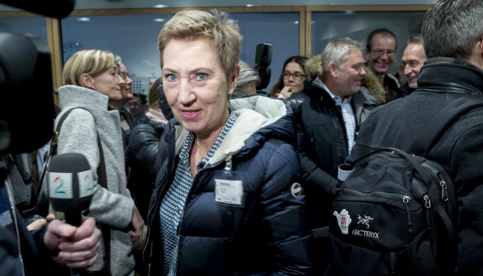 TING TAR TID: - Vi ser at vi trenger mer tid for å komme i havn, sier første nestleder Peggy Hessen Følsvik i LO om forhandlingene om særaldersgrenser i alderspensjonen for ansatte i offentlig sektor. Foto: Vidar Ruud / NTB scanpix.