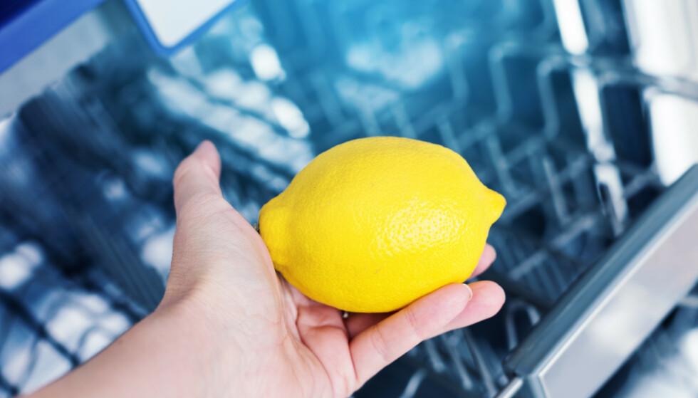 SITRON I OPPVASKMASKIN: Sitron skal ha en helt spesiell effekt på oppvaskmaskinen. Les hvilken i artikkelen under! Foto: NTB Scanpix.