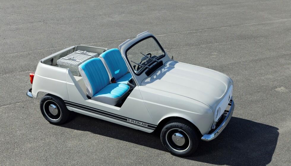 ENKEL OG GREI: I likhet med forgjengeren fra 60-tallet er 4L e-Plein Air en meget enkel konstruksjon. Foto: Renault Classic