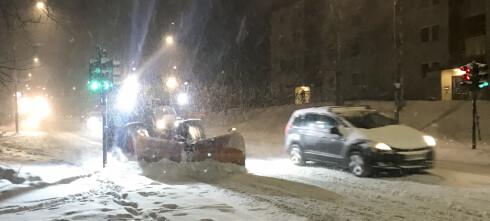 Snøvær på Østlandet: Vær forberedt på køkaos