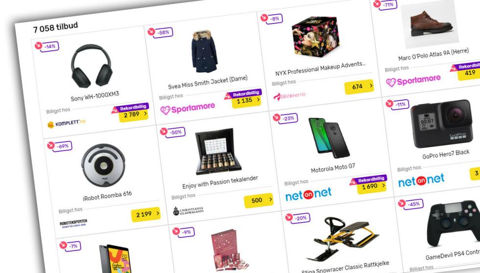 SINGLES' DAY: Norske butikker kaster seg over den kinesiske handledagen, Singles' Day. (Skjermdump fra Prisguiden.no)