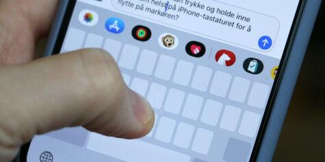 image: Flytt markøren på iPhone-tastaturet raskere
