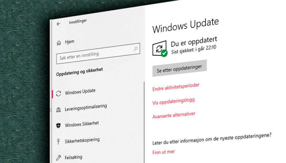 NY RUNDE: Høstens Windows-oppdatering er nå rett rundt hjørnet. Foto: Pål Joakim Pollen