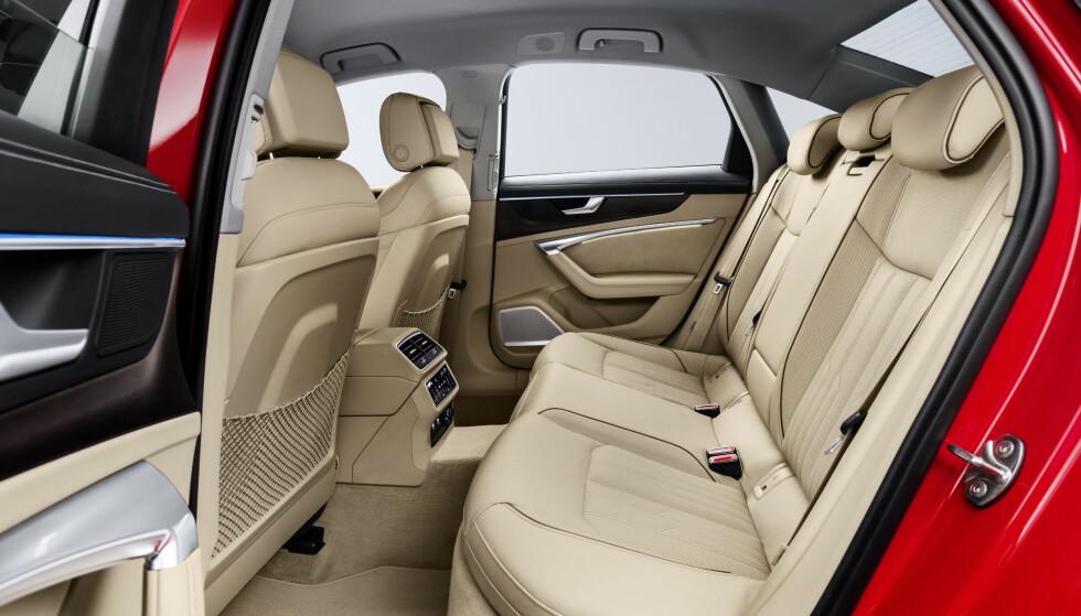 TRYGGESTE FAMILIEBILER: Audi A6 er en av de åtte modellene som har passert nåløyet og blir kåret til de tryggeste familiebilene av svenske Folksam. Foto: Audi
