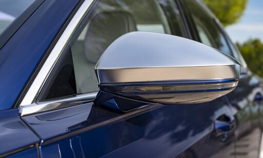 STILRENT: Aluminium speilhus kler bilen godt og er eksklusivt til S8. Foto: Jamieson Pothecary
