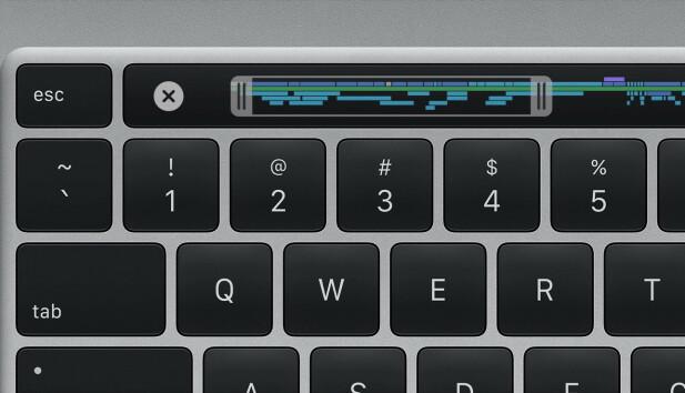 FARVEL SOMMERFUGL: Det nye tastaturet i 16-tommer MacBook Pro ser relativt likt ut som før, men skal være bedre å skrive på. Foto: Apple