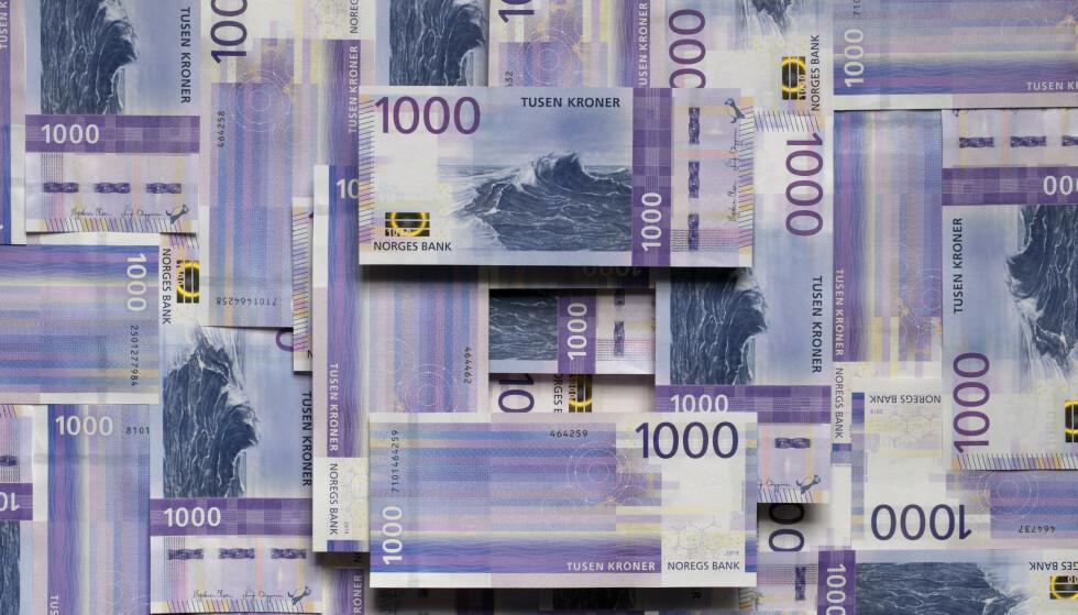 NY SEDDEL: Den nye 1000-lappen er lilla med motiv fra havet. Foto: Norges Bank.