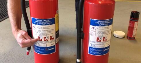 Slik sjekker du brannslukningsapparatet
