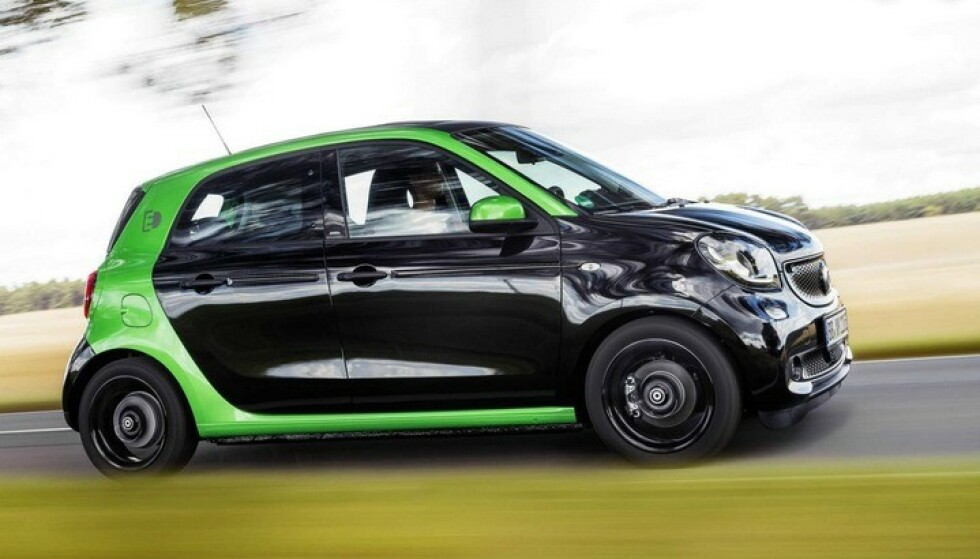 SMART EQ FORFOUR: Ikke smart nok for nordmenn. Foto: Smart