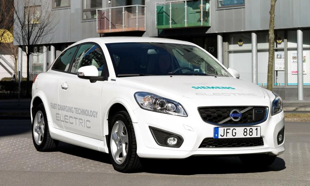 VOLVO C30 ELECTRIC: Det ble bare solgt ti stykker i Norge, mens det totalt bare ble produsert 100. Foto: Volvo