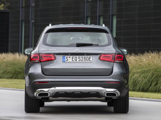 OPPGRADERT: Det var i vår GLC fikk de redesignede full-LED baklyktene, som nå selvsagt også ladbare 300 e får. Foto: Daimler AG