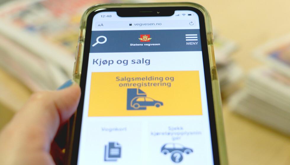 VIL IKKE VIRKE: Til helga vil ikke kjøretøytjenestene til Statens vegvesen virke. Har du en salgsmelding inne som ikke er godkjent, risikerer du at denne kan slettes. Foto: Kristin Sørdal