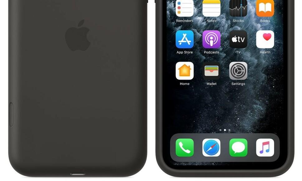 MED KNAPP: Apples nye batterideksel gir 50 prosent mer batterikapasitet på iPhone 11-modellene. Foto: Apple