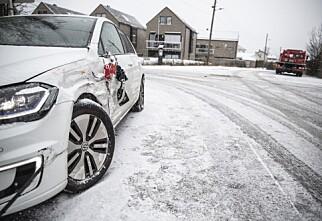 Første snøfall ga skader for 100 millioner kroner