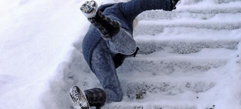 Unngå glatte trappetrinn