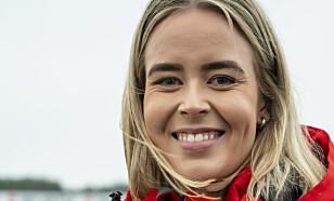 FORNØYD: Kommunikasjonsrådgiver i Tesla Norge, Nora Wisløff Egenæs. Foto: Jamieson Pothecary