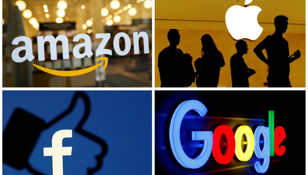FRAMTIDENS STRØMSELGERE?: Med tanke på at Amazon, Apple, Alphabet (Google) og andre store internasjonale selskaper blir en stadig større del av hverdagen vår, blant annet gjennom underholdning og smarthjemteknologi, er det kanskje bare et tidsspørsmål før du også kan kjøpe strøm av dem. Foto: Reuters.