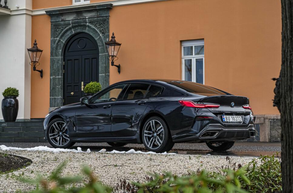 BMWs COUPE-FLAGSKIP: Nye BMW 8-serie Gran Coupe tar opp kampen mot Audi A7, Mercedes-AMG GT63 og Porsche Panamera. Foto: Jamieson Pothecary