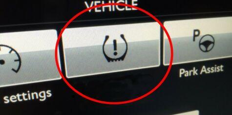 image: Lyser denne lampen på dashbordet?
