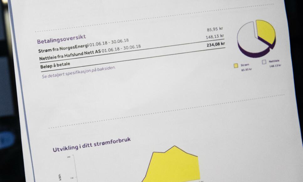TAR KAKA: Strømfakturaen din består av det du betaler for strøm og nettleie, og sistnevnte utgjør mest av alt (se kakediagrammet). Men, hva er egentlig nettleie, og hvorfor er den så høy? Svarene får du i saken under. Foto: Audun Braastad/NTB Scanpix.