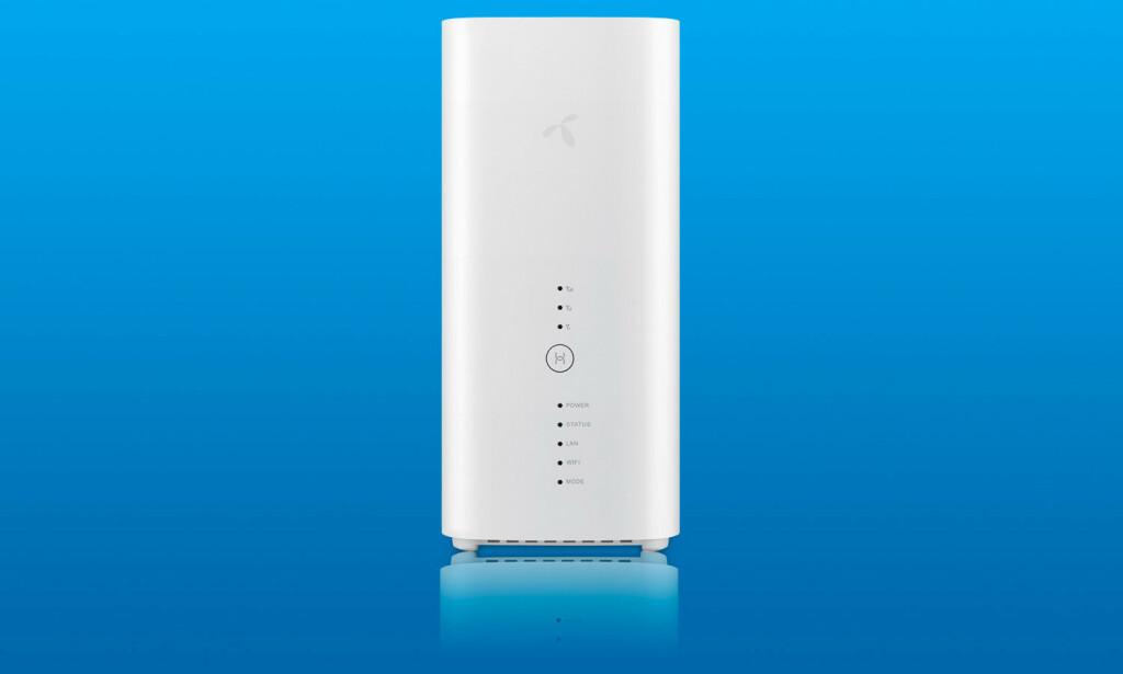 MOBILT BREDBÅND: Telenor gir nå noen kunder mulighet til å få mobilt bredbåndsabonnement med 1000 GB datakvote. Da trenger du denne ruteren. Foto: Huawei / Pål Joakim Pollen
