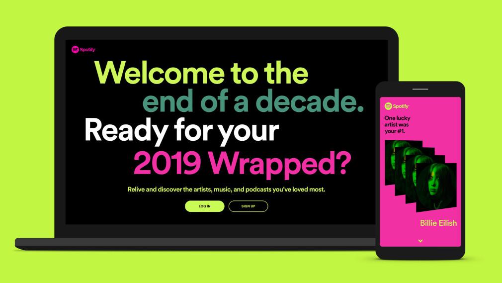 ÅRET OPPSUMMERT: Nå kan du sjekke dine strømmetrender på Spotify for 2019. Foto: Spotify