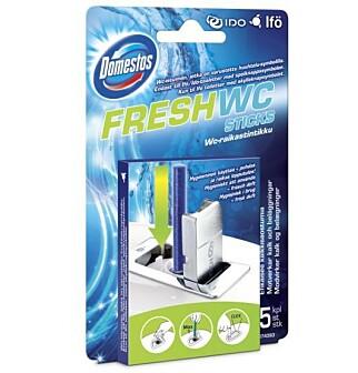 DUSJSTAV: En dusjstav som du monterer i do er et annet alternativ for å kamuflere vond lukt på toalettet. Foto: Produsent/Domestos.