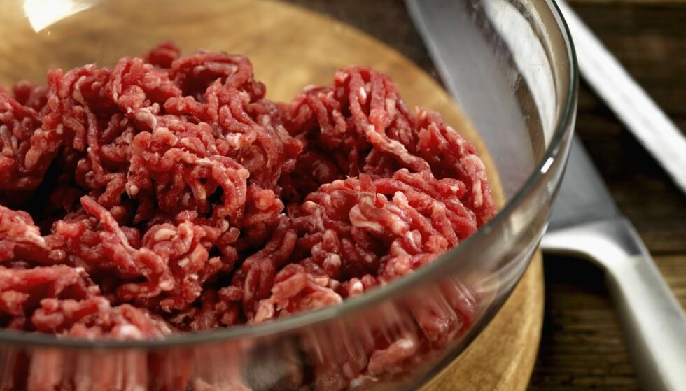 LITE E.COLI: Mattilsynet har funnet minimalt med E.coli-bakterier i norsk kjøtt- og karbonadedeig. Foto: NTB Scanpix