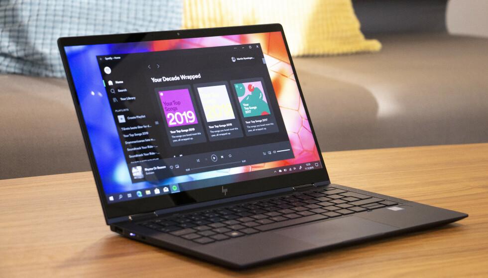 NETTAPP: Det ser faktisk ut som den vanlige Spotify-appen for Windows 10, men det er faktisk Spotify Web Player i app-drakt. Foto: Martin Kynningsrud Størbu