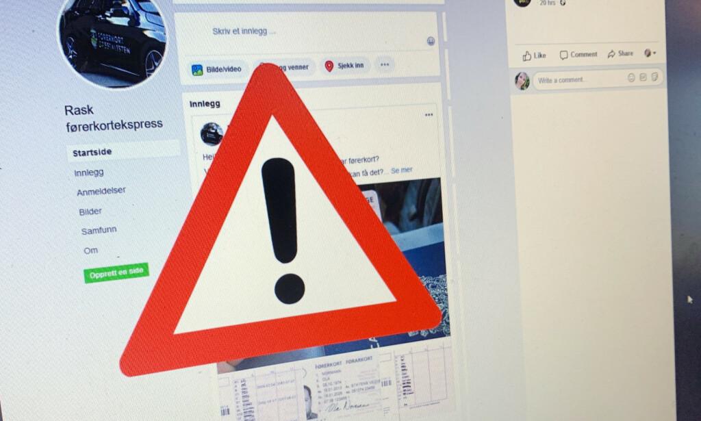 VIL BEDRA DEG: Ifølge Politiet bør du passe deg for useriøse aktører på Facebook, som lokker med at du kan ta lappen på svært kort tid. Foto: Berit B. Njarga