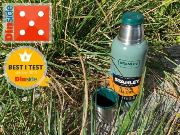 TESTVINNER: Stanley er den beste termosen i vår test av små termoser. Den koster cirka 350 kroner. Foto: Eilin Lindvoll