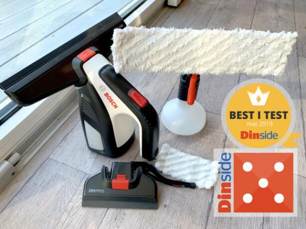 BEST: Bosch GlasVac ble best i test da Dinside testet vindusvaskere i mai. Foto: Kristin Sørdal
