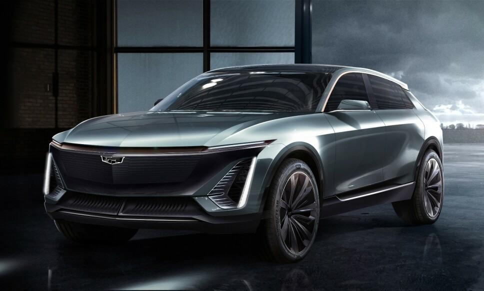 GÅR ELEKTRISK: I GMs nye strategi skal Cadillac lede an i deres elektriske fremtid. Etter alt å dømme blir den første bilen på deres nye elektriske plattform en crossover i mellomklassen. Foto: Cadillac.